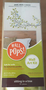 Wall Pops! Wall Art Kit Self Adhesive Sticker Kit 93 Pieces Sitting In A Tree