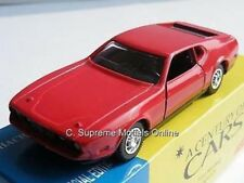 FORD MUSTANG MACH 1 CAR MODEL 1/43RD SCALE RED COLOUR SCHEME EXAMPLE T3412Z(=)