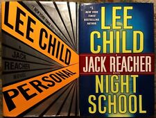 "Lee Child ""Personal"" & ""Night School"" Jack Reacher First Edition Novels"