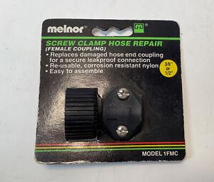 Melnor Screw Clamp Hose Repair Female Coupling 3/8 Or 1/2 Inch Hose NIB