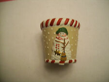 YANKEE CANDLE PEPPERMINT PUFFY VOTIVE HOLDER - NEW WITH TAGS