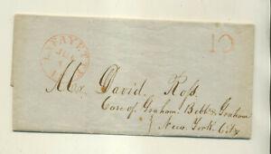 1847 H P HENDERSON LaFAYETTE IN TO DAVID ROSS NYC STMPLS LTTR CVR