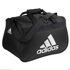 NWT ADIDAS Diablo Small Duffel Bag Sport Gym Travel Carry Expandable Black/White