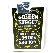 Mid 1970s Golden Nugget Las Vegas Casino Deck of Playing Cards Black Pack Signed
