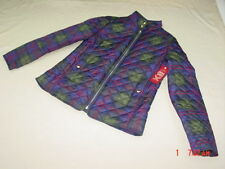 NWT Women's Faded Glory Quilted Plaid Warm Winter Fall Coat Jacket Outerwear
