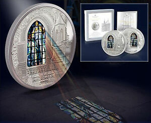2012 Cook $10 Windows of Heaven - Church of St. Francis Krakow 50 g Silver Coin