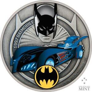2021 Niue $2 Batman 1997 Batmobile 1oz .999 Silver Proof Coin Mintage - 2,000