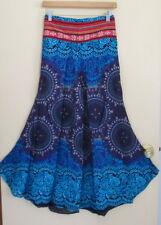 New Lovely Summer Bohemian Hippie Blue Wide leg Loose Pants One Sz 8-12Fit