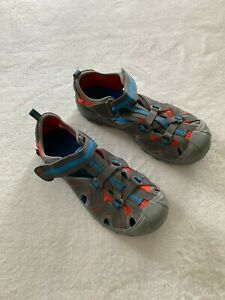Merrell Hydro Water Shoes Sandals Gray Orange Blue Sz Youth 4M