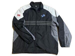 Detroit Lions Reebok XL NFL Team Apparel Mens Lightweight Windbreaker Jacket