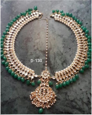 Indian Bollywood Kundan Gold Tone Matha Patti Jewelry Hair accessory--