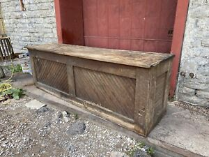 1900 Antique Country Store Mercantile Counter PINE Farmhouse Bar Kitchen Island