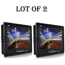 "(2) Premium 7"" Inches Rearview Car LCD Monitor By Pyle Parking Monitor Assistant"