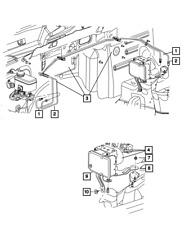 Genuine Mopar Anti-Lock Brake System Module 68031612Ab