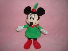 "2013 Disney Minnie Mouse in elf dress Publications international 8"" Plush"