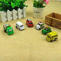 6x Kids Truck Vehicle Children Boy Girl Small Mini Pull Back Cars Toy Gift ^P