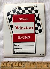 Vintage Winston Cigarettes Decal Sticker NASCAR Racing Track Car Inspector