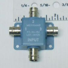PD-30-150 MERRIMAC POWER DIVIDER FREQ 10-100 MHZ/ 50 OHMS/ 4 TERMINALS NOS