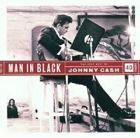 "JOHNNY CASH ""MAN IN BLACK-THE VERY BEST OF"" 2 CD NEU"