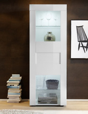 Vetrina per soggiorno, 1 anta, Vetrina verticale, Vetrina Easy