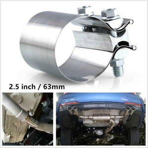 Car Truck SUV Modification Stainless Steel 2.5 inch 63mm Exhaust Pipe Clamp Hoop