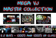 MEGA VJ - Master Collection - 5 x DVD's 1000's of Clips, loops, video edits.