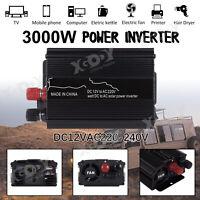 3000W DC12V à AC220V LED Numérique Puissance Inverter Onduleur Convertisseur