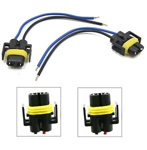 Wire Pigtail Female S H11 Two Harness Fog Light Bulb Plug Play Connector Lamp OE