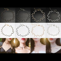 Women Fashion Multi-Color Crystal Short Clavicle Chain Choker Necklace Jewelry