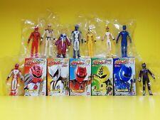 Bandai Sentai Power Rangers Gekiranger Hero Soft Vinyl Figure Full Set Candy Toy