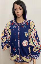 Vintage Together! Cardigan Hand Knit Sweater Sz:10/12❤️