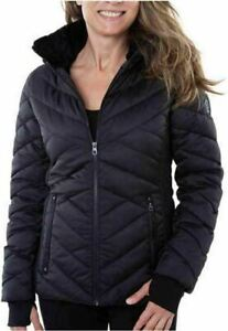 Black Nautica Ladies / Women Puffer Jacket Removable Hoodie Variety
