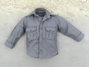 1/6 scale toy French Special Force - Dark Grey Button Up Shirt