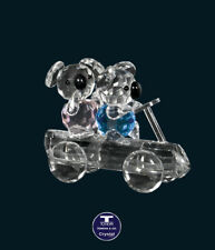 "[Crystal Plus by TONEVA] ""Koalas Billy Cart"" Austrian Crystal Figurine"