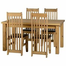 Solid Wood Living Room Table & Chair Sets with 4 Pieces