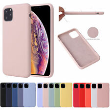 For iPhone 11 Pro Max, Liquid Silicone Gel Rubber Case + Glass Screen Protector