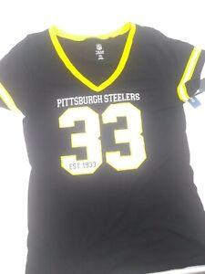 Pittsburgh Steelers NFL Team Apparel Women's T-Shirt Top Cap Sleeve