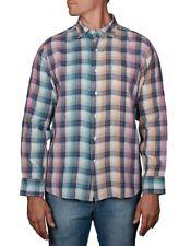 TOMMY BAHAMA Polynesian Paid Size M Long Sleeve 100% Linen Shirt BNWT NWT