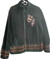 Supreme SS20 Drama Mask Fleece Jacket Black Size Large