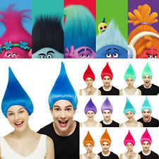 Adult Troll Style Festival Party Colourful Elf/Pixie Wig Hair Cartoon Characters