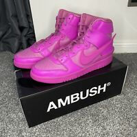 Nike x Ambush Pink Fuchsia Dunk High, UK 10.5 / US 11.5, Hi Sneakers, Deadstock
