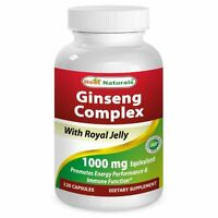 Best Naturals Ginseng Complex 1000mg 120 Capsules