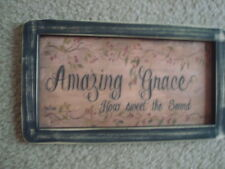 "Primitive Country Print *Amazing Grace* 10 1/2"" x 6"""