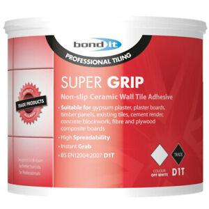 Bond It Super Grip Non Slip Ceramic D1T Wall Tile Adhesive 15kg