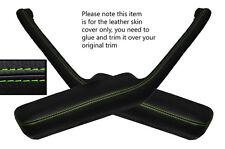 Green stitch 2x poignée de porte accoudoir peau couvre fits PONTIAC FIREBIRD 90-92