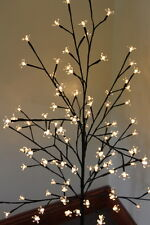 REDUCED-Light Up Christmas Cherry Tree 1.2M Tall With 100 Warm White LED Lights