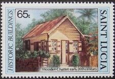 SAINT LUCIA -1984- Historical Building - Wooden Chattel Early 20th Century  #647