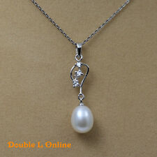 925 Sterling Silver Freshwater Pearl Necklace & Earrings Sets In Box Jewellery