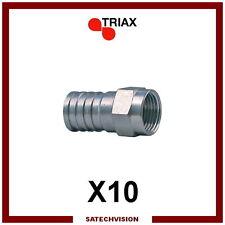10 Connecteurs Fiches F à Sertir Triax FFS 001 pour Câble Coaxial RG6