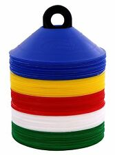 100 Multi Color Disc Cones Soccer Football Field marking Coaching training